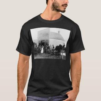 Camiseta Bar velho do tempo da cidade da fronteira do