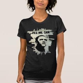 Camiseta Barack Obama. Concreto do fundo do estêncil