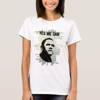 Camiseta Barack Obama. Concrt do estêncil