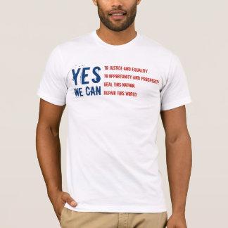 Camiseta Barack Obama: SIM NÓS PODEMOS - a bandeira v1
