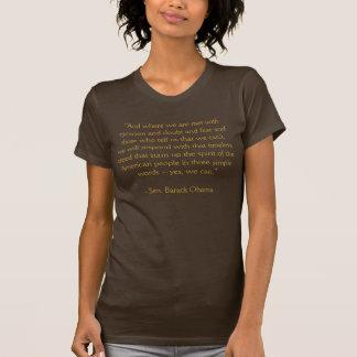 """Camiseta Barack Obama """"sim nós podemos"""" discurso"""