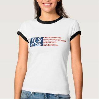 Camiseta Barack Obama: SIM NÓS PODEMOS embandeirar v2
