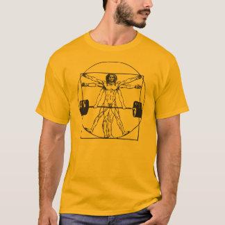 Camiseta Barbell Deadlift do Gym - homem de Vitruvian