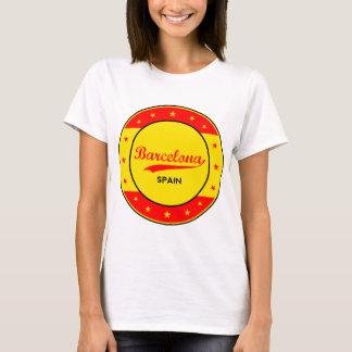 Camiseta Barcelona, Spain, circle with flag colors