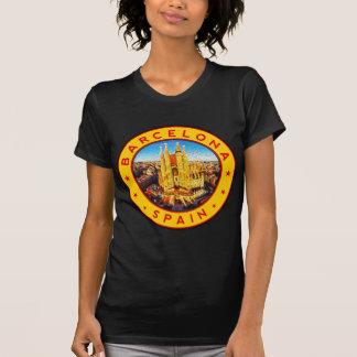 Camiseta Barcelona, Spain, circle, yellow