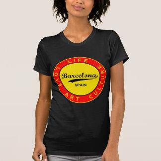 Camiseta Barcelona, Spain, red circle, art