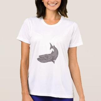 Camiseta Barracuda que nada abaixo do desenho