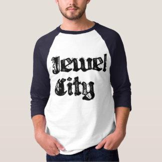 Camiseta Basebol azul T da cidade da jóia