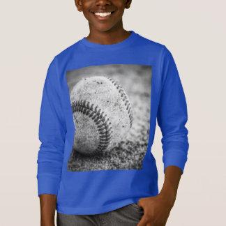 Camiseta Basebol em preto e branco