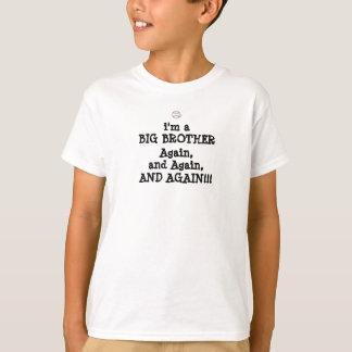 Camiseta basebol, eu sou a, BIG BROTHER, outra vez, e outra