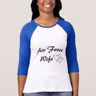 Camiseta Basebol T da esposa da força aérea