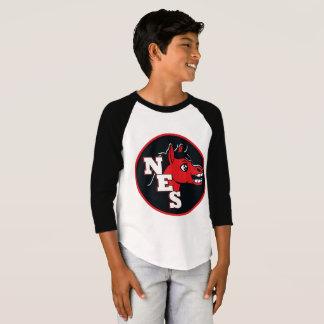 Camiseta Basebol T da mula do NES do menino mini