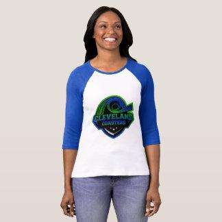 Camiseta Basebol T das senhoras das portas copos