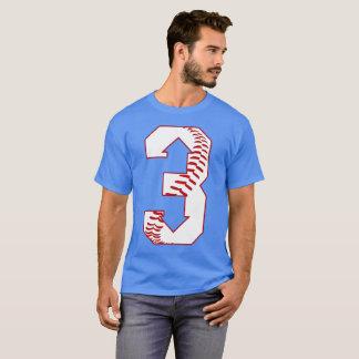 Camiseta Basebol - três acima de três para baixo - 3 acima