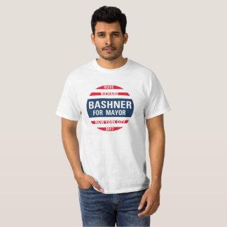 Camiseta Bashner para o Mayor da Nova Iorque