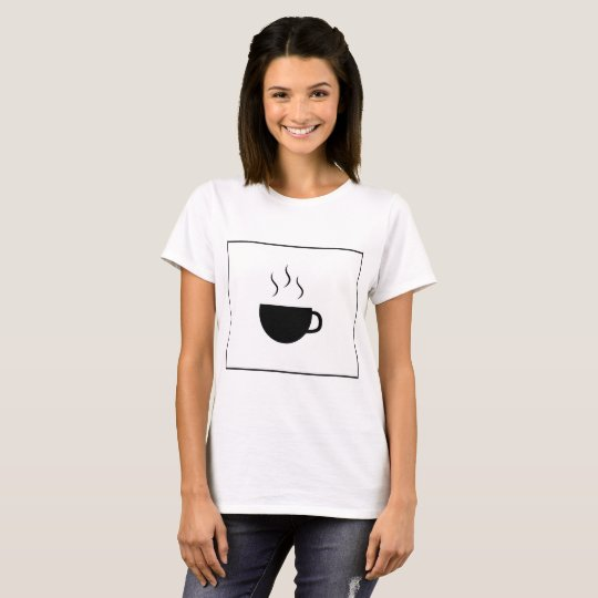 Camiseta Basic T-Shirt White - Coffee stamp