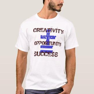 Camiseta Básica Criatividade+Oportunidade=Sucesso
