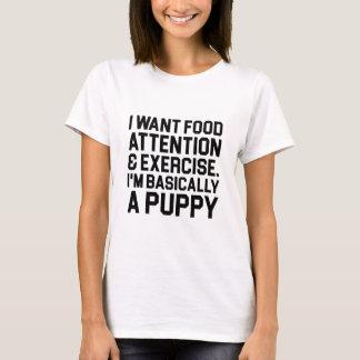 Camiseta Basicamente um filhote de cachorro