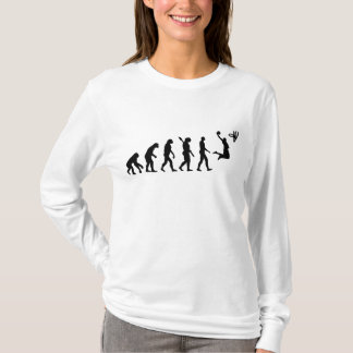 Camiseta Basquetebol da evolução