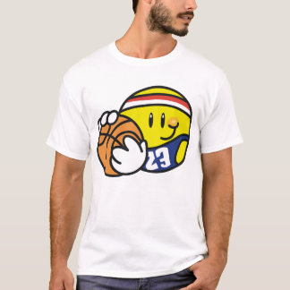 Camiseta Basquetebol do smiley