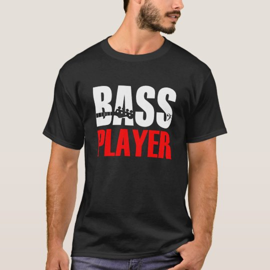 Camiseta Bass Player T-Shirt Black