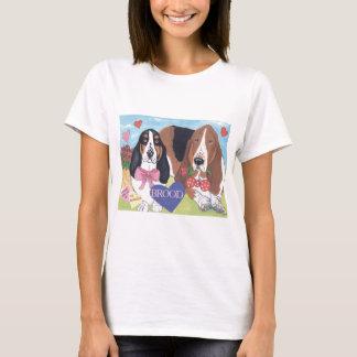 Camiseta Bassets dos namorados