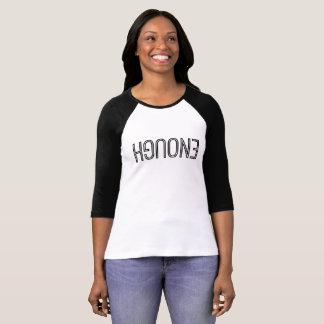 """Camiseta """"Bastante"""" 3/4 de t-shirt do Raglan da luva"""