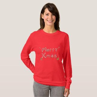 Camiseta Bastão de doces alegre do xmas