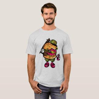Camiseta Bastardo do hamburguer do queijo do gângster de