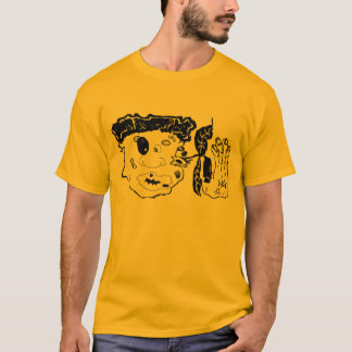 Camiseta bata acima a arte gráfica