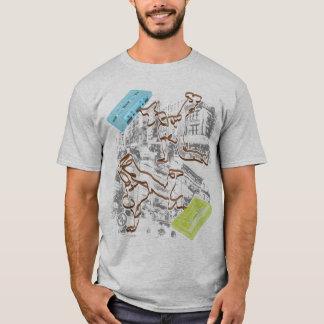 Camiseta batalha da gaveta do B-menino (cinzas)