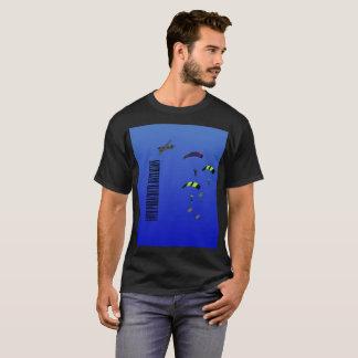 Camiseta Batalhão do pára-quedas do t-shirt preto dos