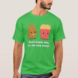 Camiseta Batata e batatas fritas de Kawaii