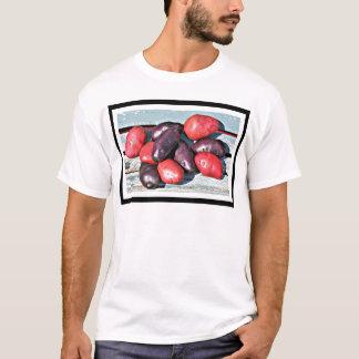 Camiseta batatas vermelhas e roxas
