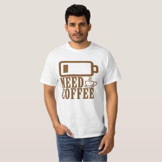 Camiseta BATERIA do café da necessidade BAIXA.