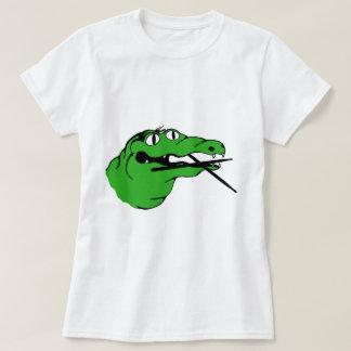 Camiseta BATERISTA da engrenagem do jacaré nenhum subtítulo