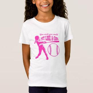 Camiseta Batida como uma menina - basebol T