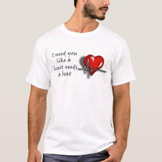 Camiseta Batimento cardíaco doce do t-shirt dos homens do