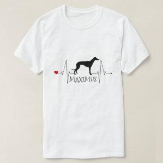 Camiseta Batimento cardíaco personalizado do cão do amor de