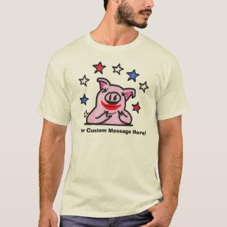 Camiseta Batom feito sob encomenda da mensagem em um porco