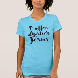 Camiseta Batom Jesus do café - 3 coisas que cada galão