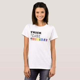 Camiseta bbw curvy da mulher quente grossa da malhação de