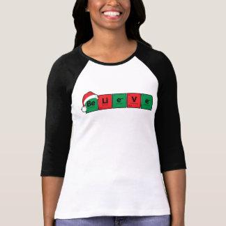 Camiseta Be.Li.e.V.e {a mesa periódica acredita}