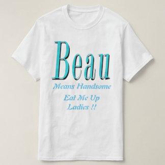 Camiseta Beau, logotipo considerável dos meios,