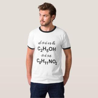 Camiseta beba o álcool e aumente seu nível da dopamina