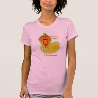 Camiseta Bebê da paz (vidros cor-de-rosa) v2.0