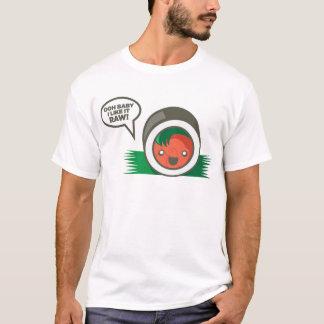 Camiseta Bebê de Ooh do Sushi de Kawaii eu gosto d cru