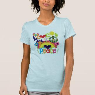 Camiseta Bebê do amor e da paz