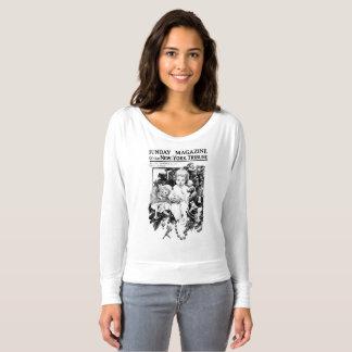 Camiseta Bebê do jornal do vintage do Natal pelo t-shirt da