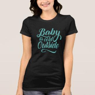 Camiseta Bebê é t-shirt exterior frio